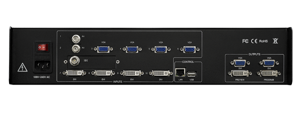 Свитчер, видеопроцессор для LED светодиодного экрана Magnimage MIG-630CS1 Задняя часть