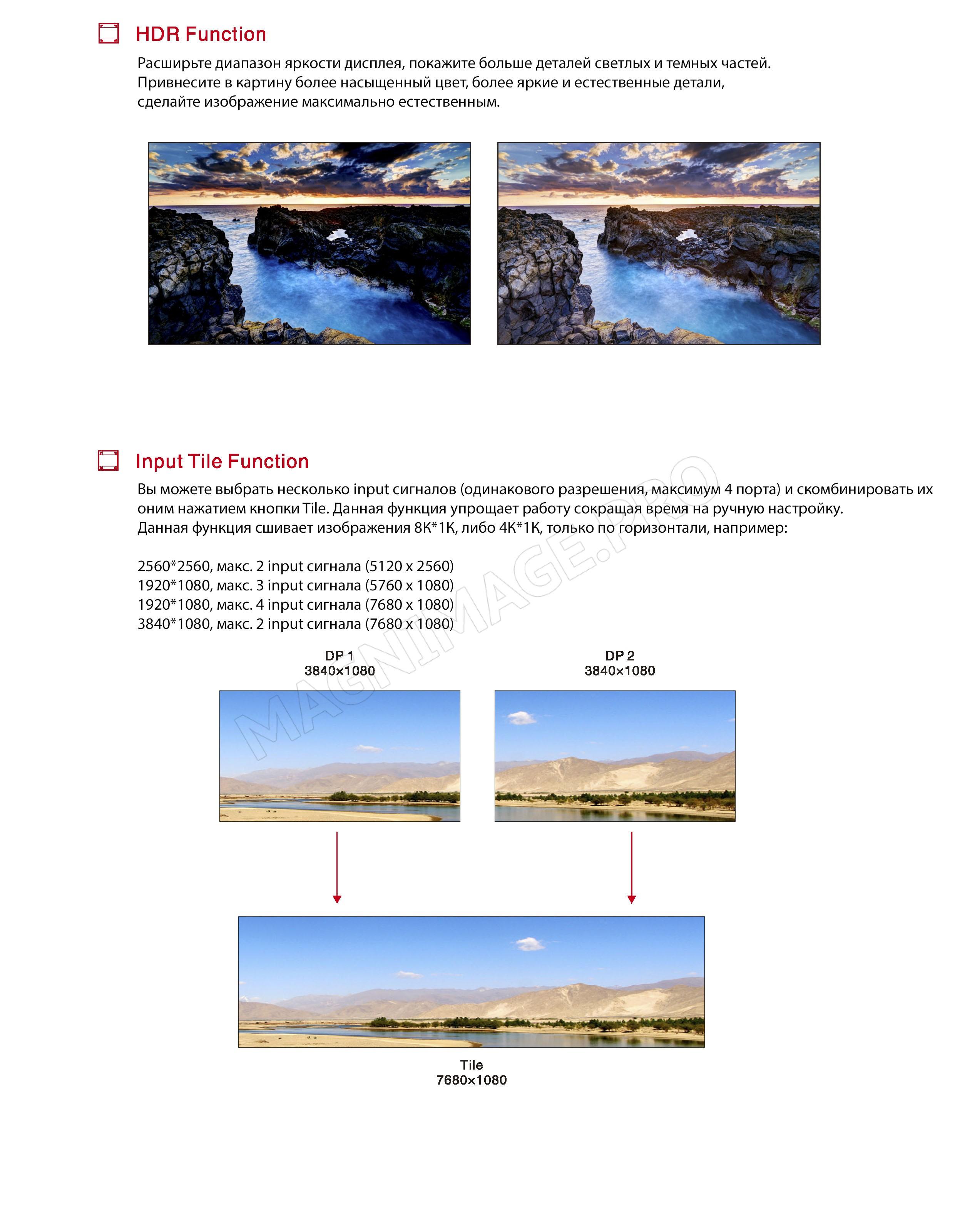 Видеопроцессор для LED светодиодного экрана Magnimage LED-W4000 Основные характеристики 3